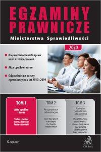 Egzaminy Prawnicze Ministerstwa Sprawiedliwości 2020. Tom 1. Akta cywilne i karne. Wydanie 10 - Joanna Ablewicz - ebook