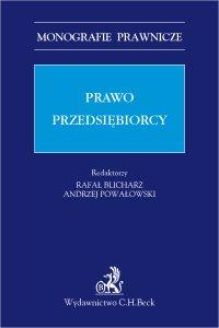 Prawo przedsiębiorcy - Rafał Blicharz - ebook