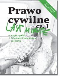 Last Minute Prawo cywilne cz.I - Anna Gólska - ebook