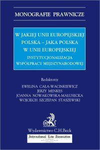 W jakiej Unii Europejskiej Polska - jaka Polska w Unii Europejskiej. Instytucjonalizacja współpracy międzynarodowej - Ewelina Cała-Wacinkiewicz - ebook