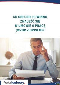 Co obecnie powinno znaleźć się w umowie o pracę (wzór z opisem)? - Iwona Jaroszewska-Ignatowska - ebook