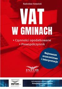 VAT w gminach.Czynności opodatkowane.Prewspółczynnik - Radosław Kowalski - ebook
