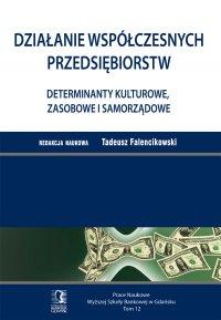 Działanie współczesnych przedsiębiorstw. Determinanty kulturowe, zasobowe i samorządowe. Tom 12 - Tadeusz Falencikowski - ebook