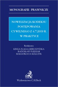 Nowelizacja Kodeksu postępowania cywilnego z 4.7.2019 r. w praktyce - prof. US Kinga Flaga-Gieruszyńska - ebook