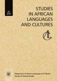 Studies in African Languages and Cultures. Volumen 53 (2019) - Nina Pawlak - eprasa
