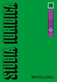 Studia Iuridica, nr 78 - Tomasz Giaro - eprasa