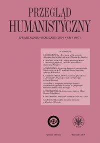 Przegląd Humanistyczny 2019/4 (467) - Tomasz Wójcik - eprasa