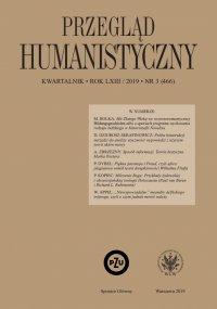 Przegląd Humanistyczny 2019/3 (466) - Tomasz Wójcik - eprasa