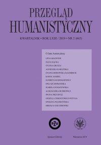 Przegląd Humanistyczny 2019/2 (465) - Ewa Paczoska - eprasa