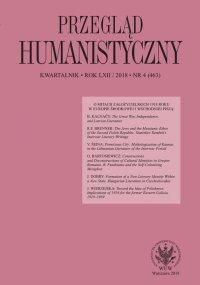Przegląd Humanistyczny 2018/4 (463) - Alina Molisak - eprasa