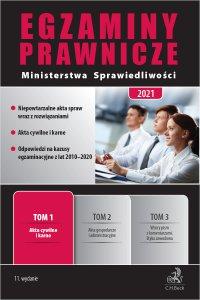 Egzaminy Prawnicze Ministerstwa Sprawiedliwości 2021. Tom 1. Akta cywilne i karne. Wydanie 11 - Joanna Ablewicz - ebook