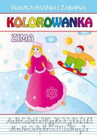 Kolorowanka. Zima. Nauka Pisania i Zabawa - Dagmara Gąska - ebook
