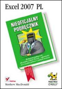 Excel 2007 PL. Nieoficjalny podręcznik - Matthew MacDonald - ebook