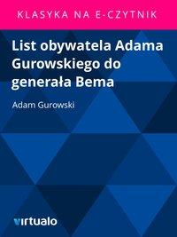 List obywatela Adama Gurowskiego do generała Bema