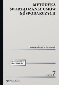Metodyka sporządzania umów gospodarczych - Aleksandra Cempura - ebook