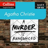 murder is announced: Level 4 - upper- intermediate (B2) (Collins Agatha Christie ELT Readers) - Agatha Christie - audiobook