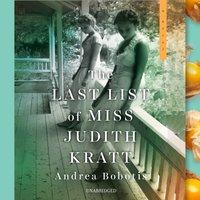 Last List of Miss Judith Kratt - Andrea Bobotis - audiobook
