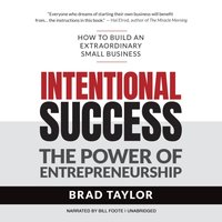 Intentional Success - Brad Taylor - audiobook