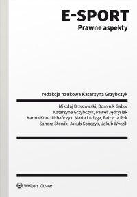 E-sport. Prawne aspekty - Katarzyna Grzybczyk - ebook