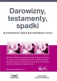 Darowizny, testamenty, spadki - Eliza Jamborska - ebook