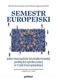 Semestr europejski jako narzędzie kształtowania polityki społecznej w Unii Europejskiej - Gabriela Wronowska - ebook