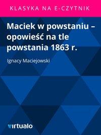 Maciek w powstaniu – opowieść na tle powstania 1863 r.