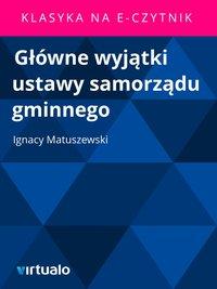 Główne wyjątki ustawy samorządu gminnego