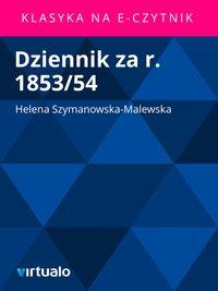 Dziennik za r. 1853/54