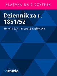 Dziennik za r. 1851/52