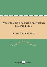 Wspomnienie o Kaliście z Rzewuskich księżnie Teano