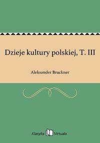 Dzieje kultury polskiej, T. III