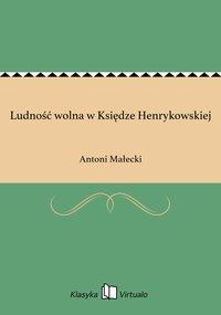 Ludność wolna w Księdze Henrykowskiej