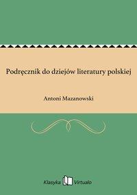 Podręcznik do dziejów literatury polskiej
