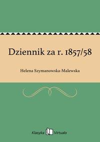 Dziennik za r. 1857/58