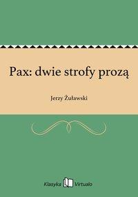 Pax: dwie strofy prozą