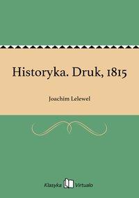 Historyka. Druk, 1815