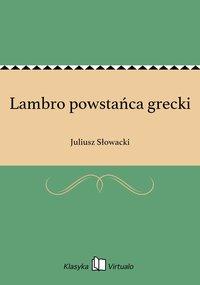 Lambro powstańca grecki