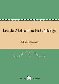 List do Aleksandra Hołyńskiego