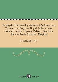 O zabytkach Kruszwicy, Gniezna i Krakowa oraz Trzemeszna, Rogoźna, Kcyni, Dobieszewka, Gołańczy, Żnina, Gąsawy, Pakości, Kościelca, Inowrocławia, Strzelna i Mogilna