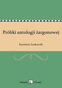Próbki antologji żargonowej