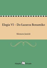 Elegia VI – Do Łazarza Bonamiko