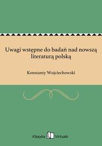 Uwagi wstępne do badań nad nowszą literaturą polską