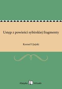 Ustęp z powieści sybirskiej fragmenty