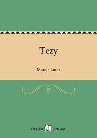 Tezy - Marcin Luter - ebook
