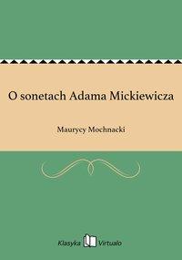 O sonetach Adama Mickiewicza