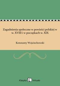 Zagadnienia społeczne w powieści polskiej w w. XVIII i w początkach w. XIX