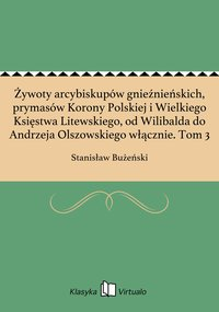 Żywoty arcybiskupów gnieźnieńskich, prymasów Korony Polskiej i Wielkiego Księstwa Litewskiego, od Wilibalda do Andrzeja Olszowskiego włącznie. Tom 3