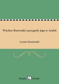 Wacław Rzewuski i przygody jego w Arabii