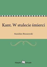 Kant. W stulecie śmierci - Stanisław Brzozowski - ebook