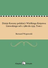 Dzieje Korony polskiej i Wielkiego Księstwa Litewskiego od r. 1380 do 1535. Tom 1 - Bernard Wapowski - ebook